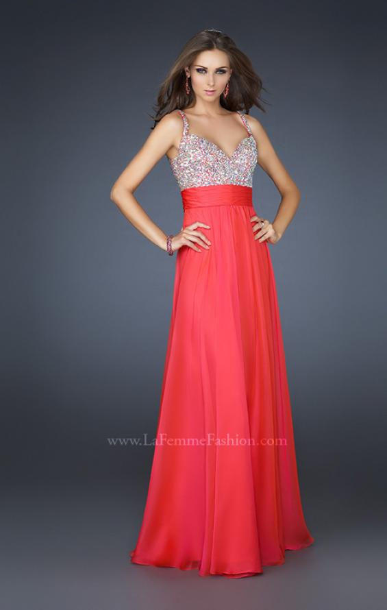Picture of: Jewel Encrusted Prom Gown with A-line Skirt, Style: 16802, Detail Picture 3
