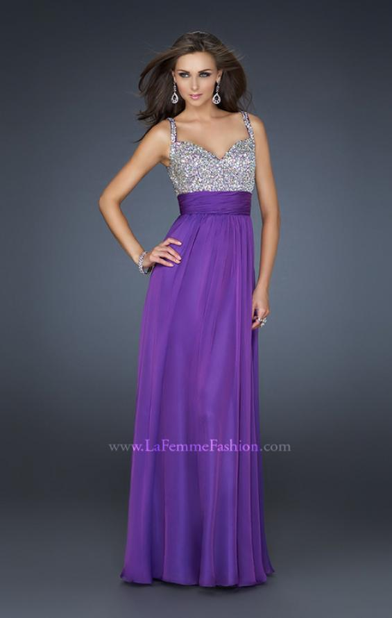 Picture of: Jewel Encrusted Prom Gown with A-line Skirt, Style: 16802, Detail Picture 4
