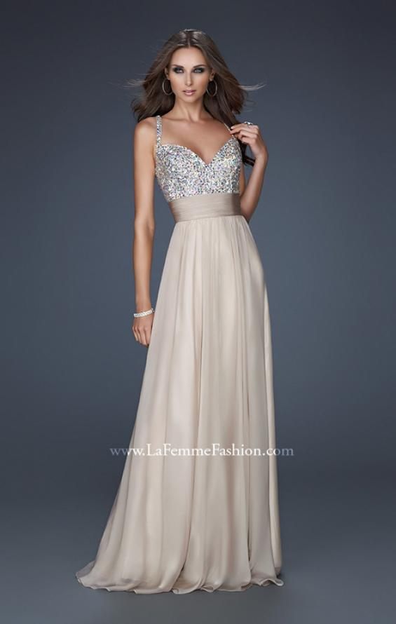 Picture of: Jewel Encrusted Prom Gown with A-line Skirt, Style: 16802, Detail Picture 5