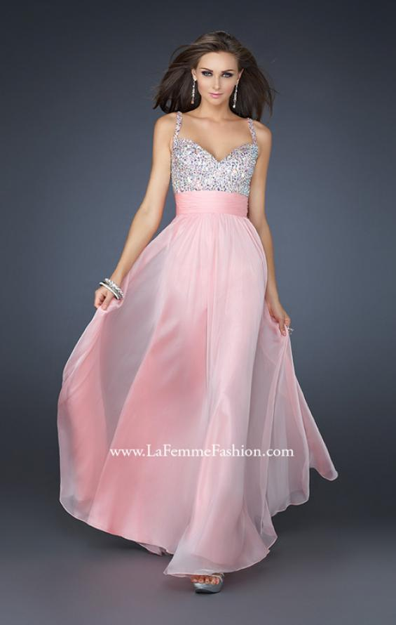 Picture of: Jewel Encrusted Prom Gown with A-line Skirt, Style: 16802, Detail Picture 6
