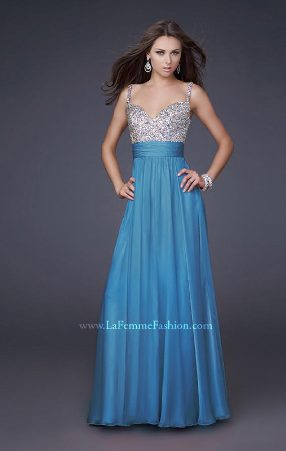 Picture of: Jewel Encrusted Prom Gown with A-line Skirt, Style: 16802, Detail Picture 7