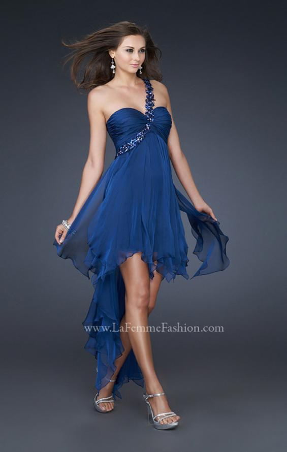 Picture of: High Low Style Prom Dress with Gem Flower Design, Style: 16924, Detail Picture 1