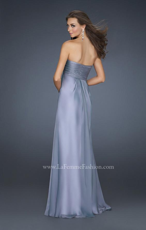 Picture of: Strapless Long Chiffon Prom Dress with Rhinestones, Style: 16970, Back Picture