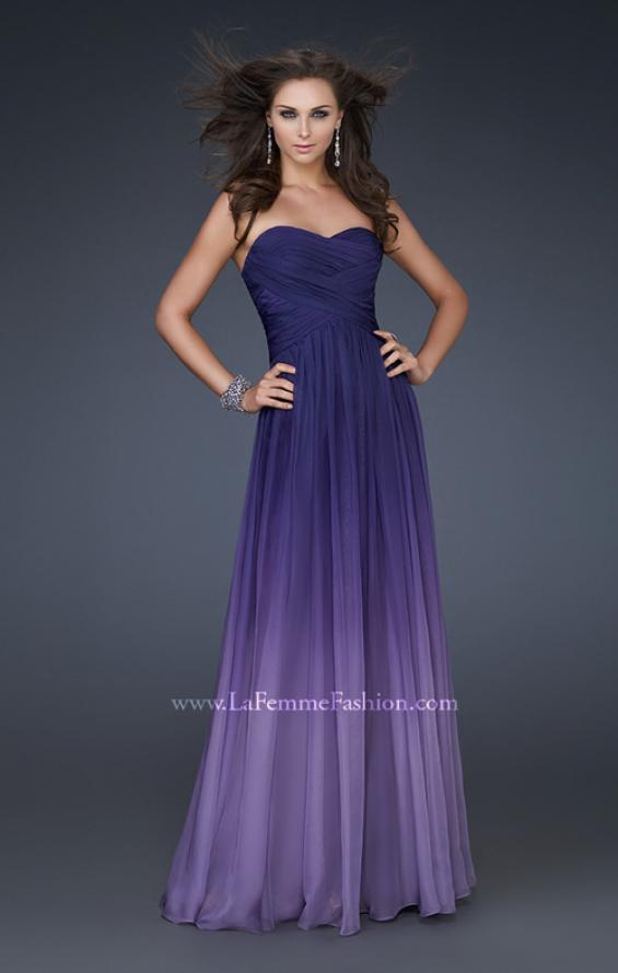 Picture of: Ombre Chiffon Prom Gown with Sweetheart Neckline, Style: 17004, Main Picture