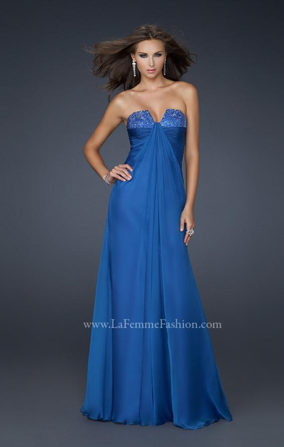 Picture of: Strapless Incrusted Chiffon Prom Dress with Gathering, Style: 17037, Main Picture
