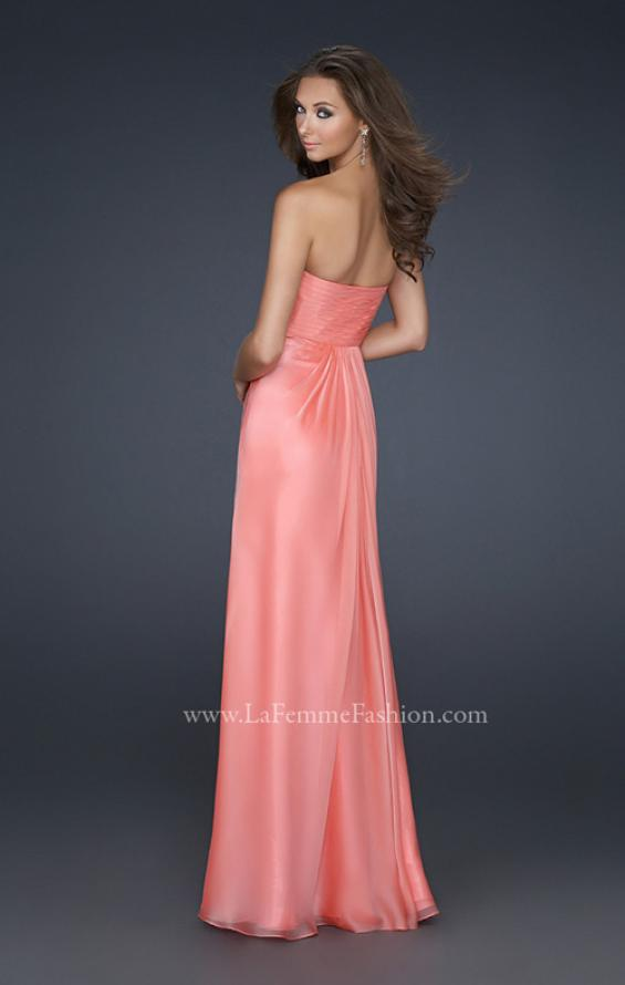 Picture of: Strapless Incrusted Chiffon Prom Dress with Gathering, Style: 17037, Back Picture