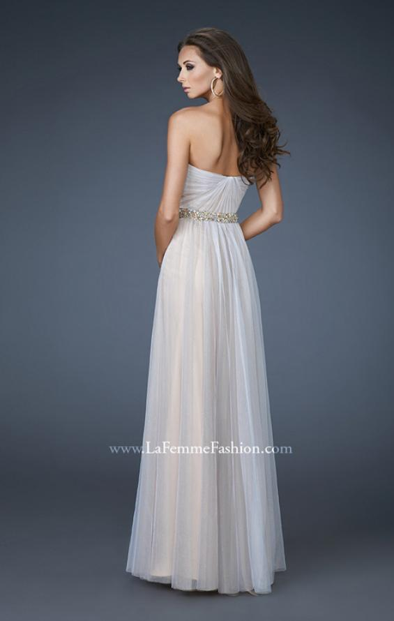 Picture of: Sweetheart Neckline Prom Dress with Beaded Belt, Style: 17150, Back Picture