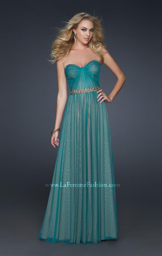 Picture of: Sweetheart Neckline Prom Dress with Beaded Belt, Style: 17150, Detail Picture 1