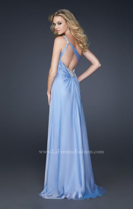 Picture of: One Shoulder Strap Prom Dress with Beaded Hip Design, Style: 17157, Back Picture
