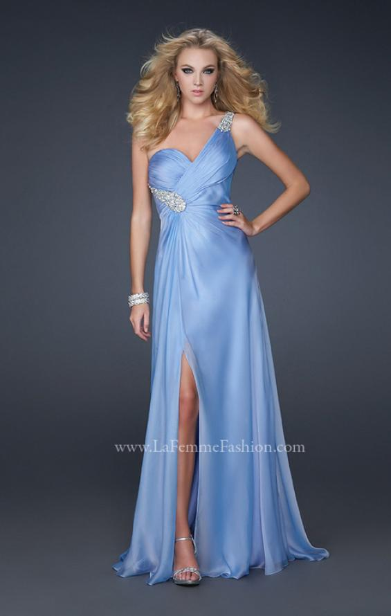 Picture of: One Shoulder Strap Prom Dress with Beaded Hip Design, Style: 17157, Detail Picture 1