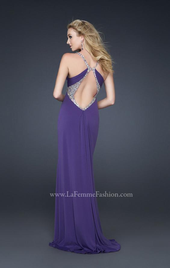 Picture of: Jersey Prom Dress with Criss Cross Open Back and Gems, Style: 17255, Detail Picture 2
