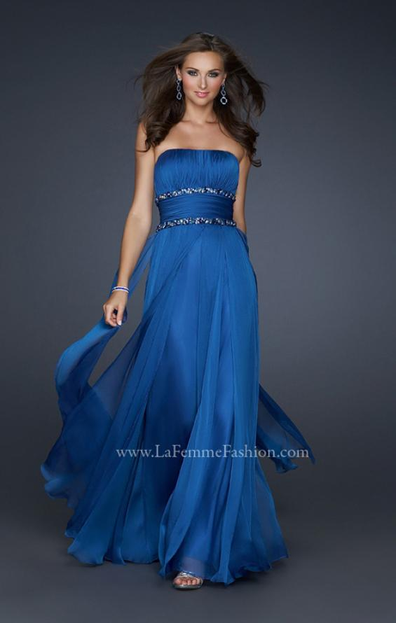 Picture of: Simple Long Prom Dress with Beaded Waist, Style: 17264, Main Picture