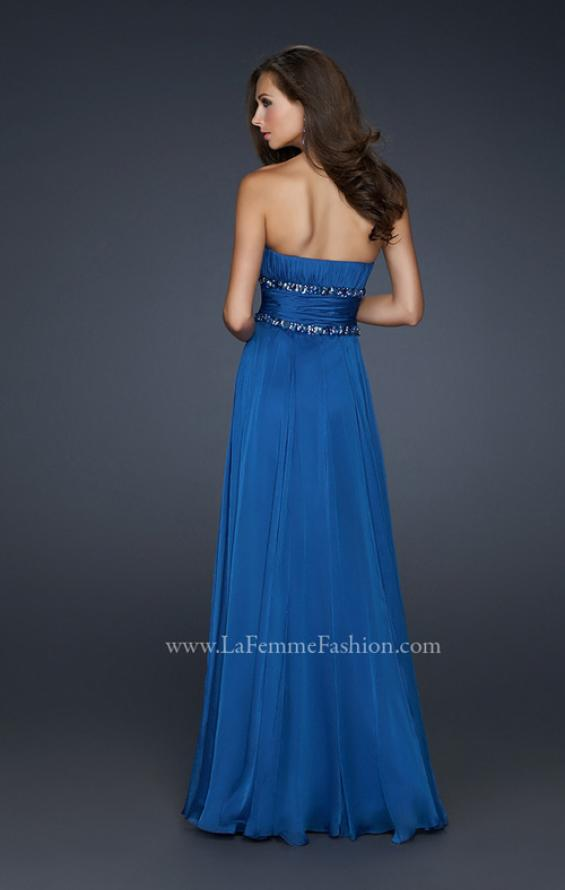 Picture of: Simple Long Prom Dress with Beaded Waist, Style: 17264, Back Picture