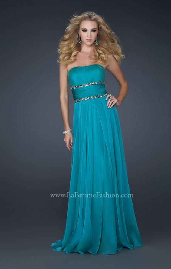 Picture of: Simple Long Prom Dress with Beaded Waist, Style: 17264, Detail Picture 1