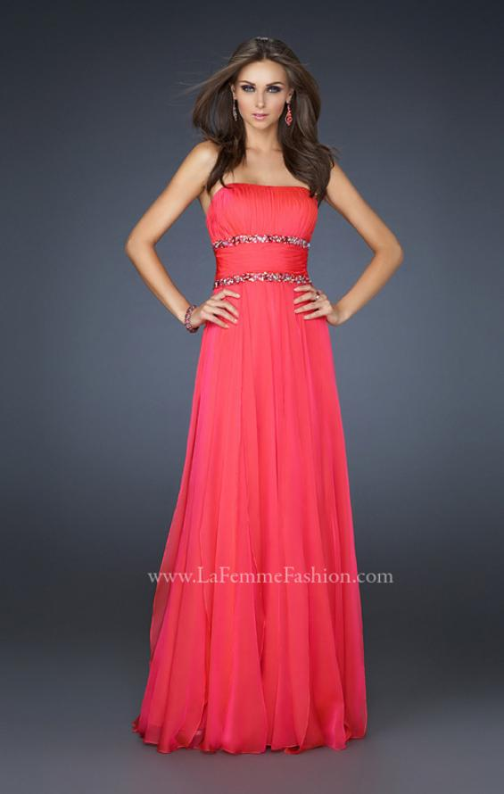 Picture of: Simple Long Prom Dress with Beaded Waist, Style: 17264, Detail Picture 2