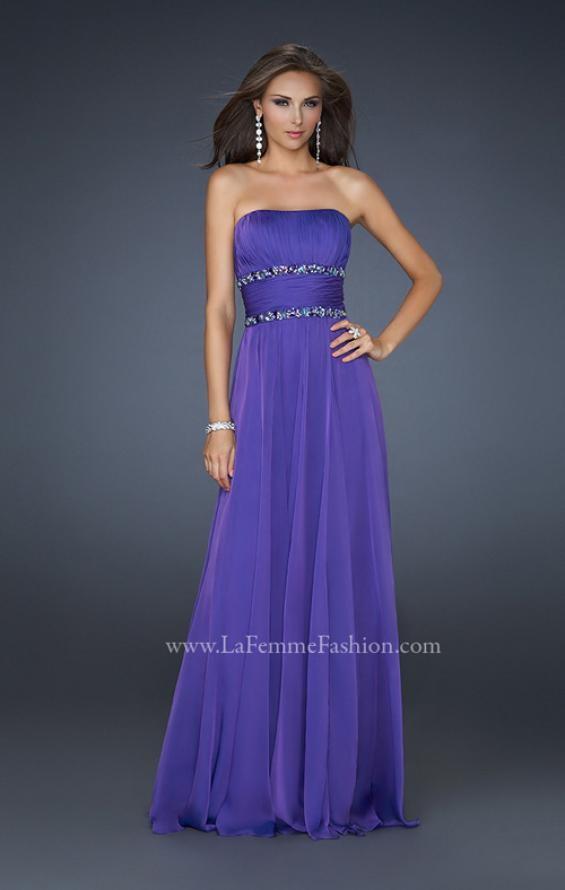 Picture of: Simple Long Prom Dress with Beaded Waist, Style: 17264, Detail Picture 3