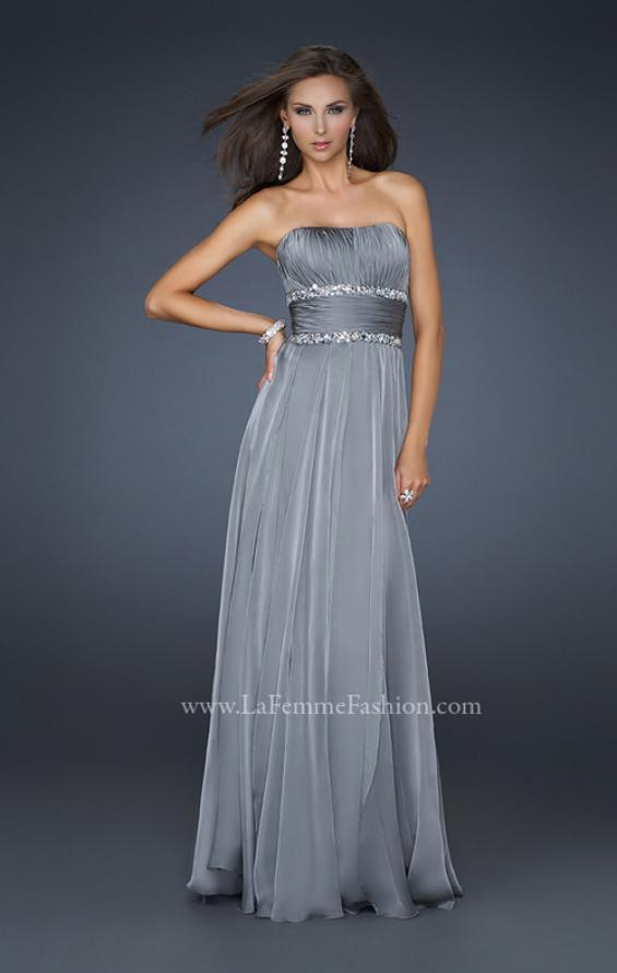 Picture of: Simple Long Prom Dress with Beaded Waist, Style: 17264, Detail Picture 4