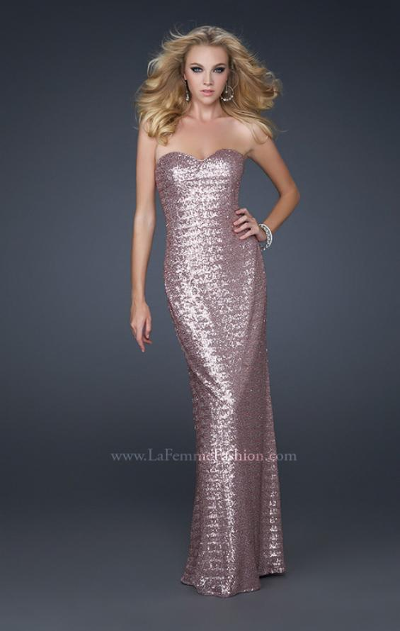 Picture of: Mermaid Inspired Prom Dress with Open Back in Pink, Style: 17368, Detail Picture 1