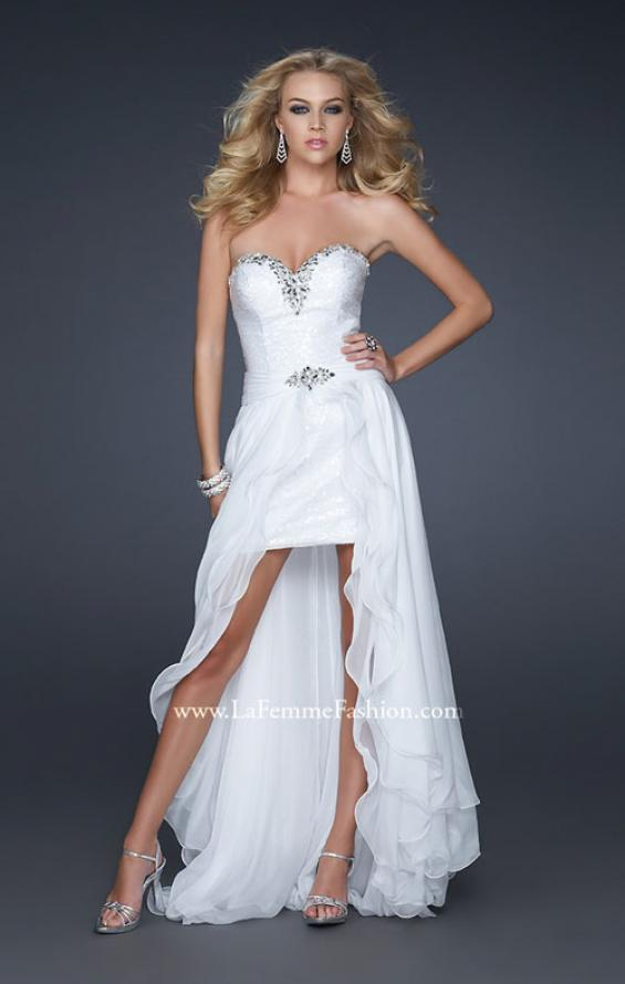 Picture of: Glam Strapless Prom Gown with Embellished Waist, Style: 17377, Main Picture