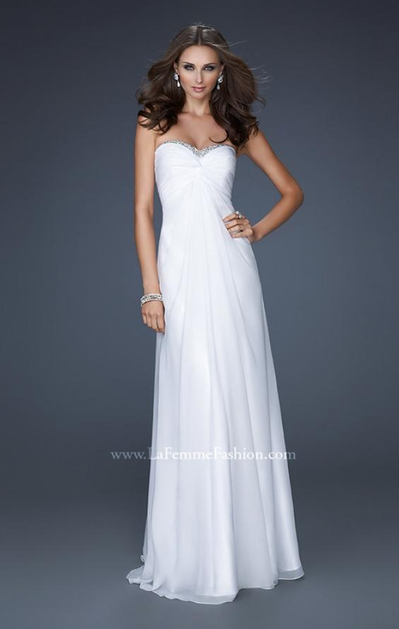 Picture of: Strapless Chiffon Gown with Elegant Draped Fit, Style: 17443, Detail Picture 2