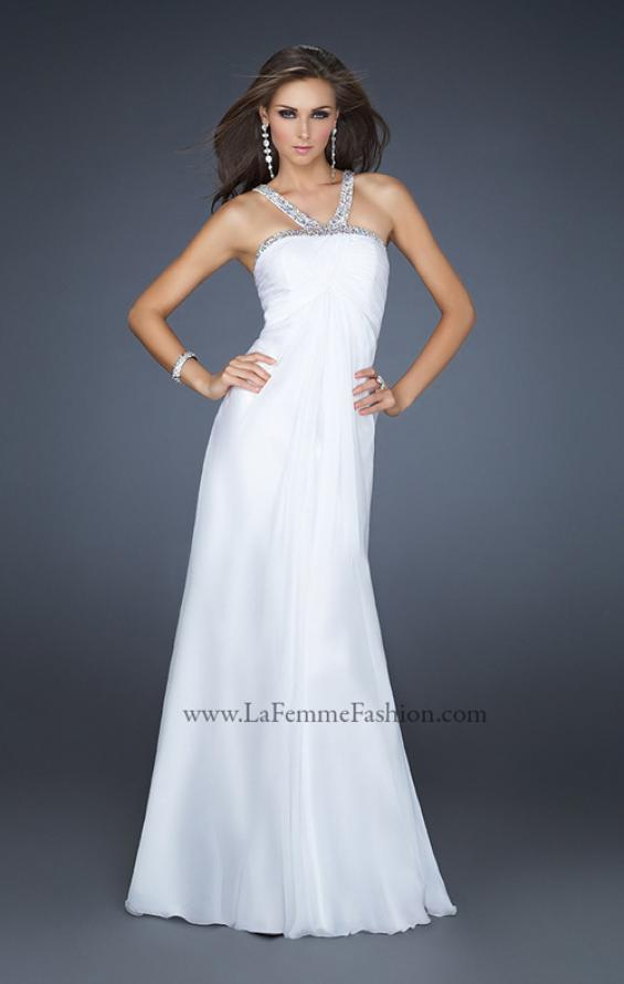 Picture of: Halter Top Dress with Beaded Straps and Draped Effect, Style: 17452, Detail Picture 4