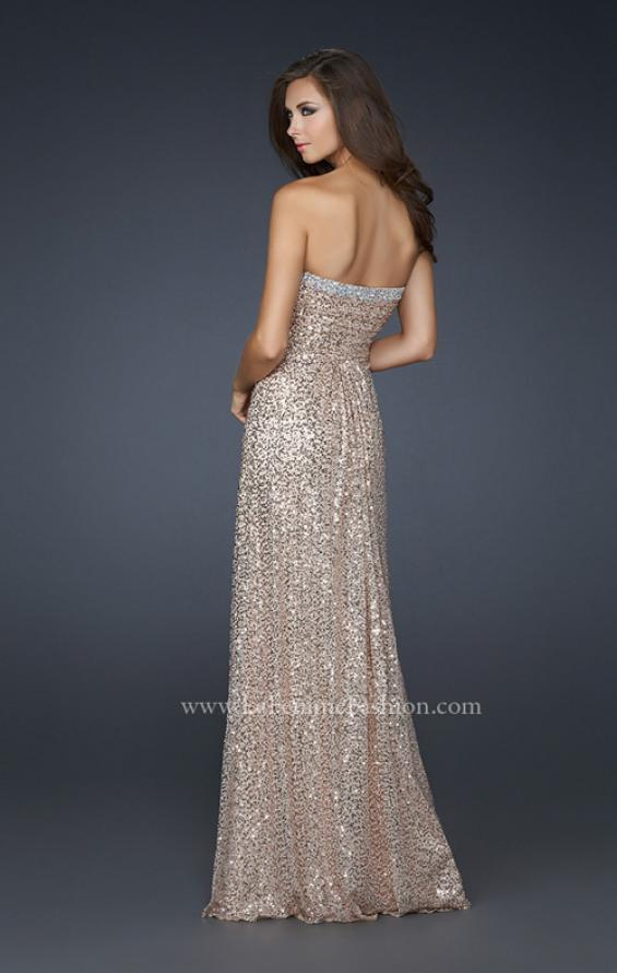 Picture of: Full Length Sequin Prom Gown with Gathered Detail, Style: 17458, Detail Picture 4