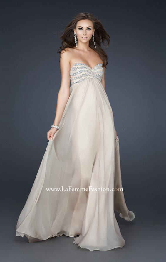 Picture of: Strapless Chiffon Dress with Sweetheart Neckline, Style: 17474, Main Picture