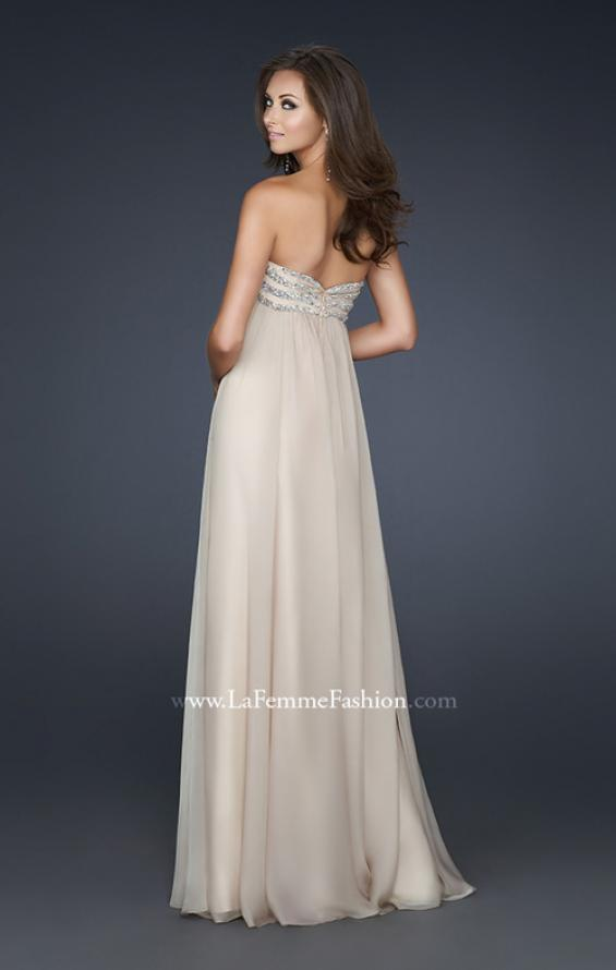Picture of: Strapless Chiffon Dress with Sweetheart Neckline, Style: 17474, Back Picture