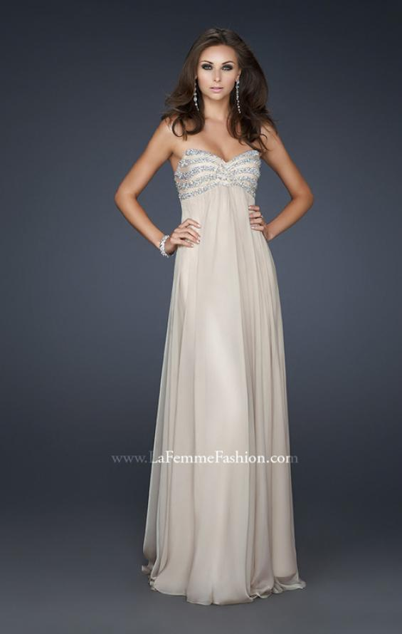 Picture of: Strapless Chiffon Dress with Sweetheart Neckline, Style: 17474, Detail Picture 1