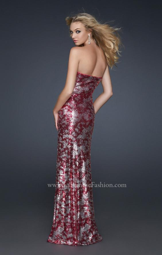 Picture of: Form Fitting Sequin Dress with Sweetheart Neckline, Style: 17480, Back Picture