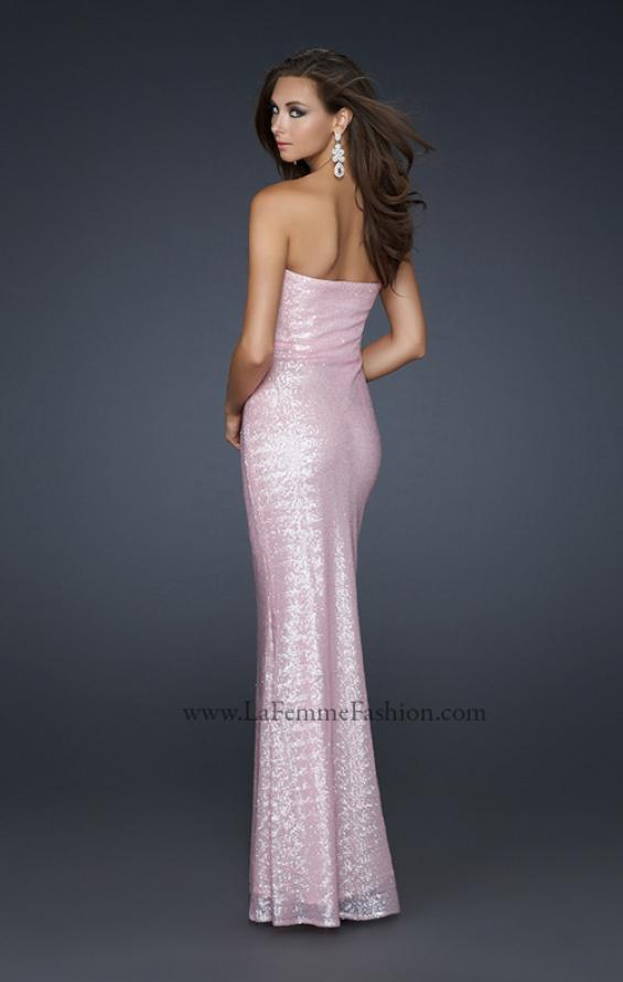 Picture of: Stretch Sequin Mermaid Prom Dress with Beaded Detail, Style: 17495, Back Picture