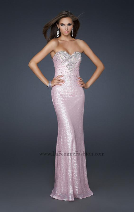 Picture of: Stretch Sequin Mermaid Prom Dress with Beaded Detail, Style: 17495, Detail Picture 1