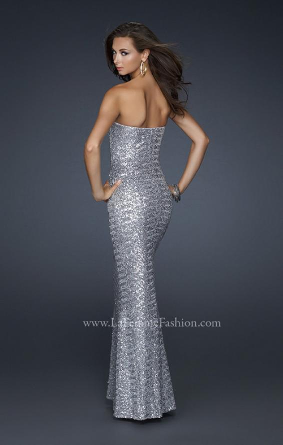 Picture of: Stretch Sequin Mermaid Prom Dress with Beaded Detail, Style: 17495, Detail Picture 4