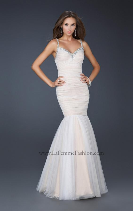Picture of: Form Fitting Mermaid Dress with Beaded Neckline, Style: 17508, Detail Picture 1