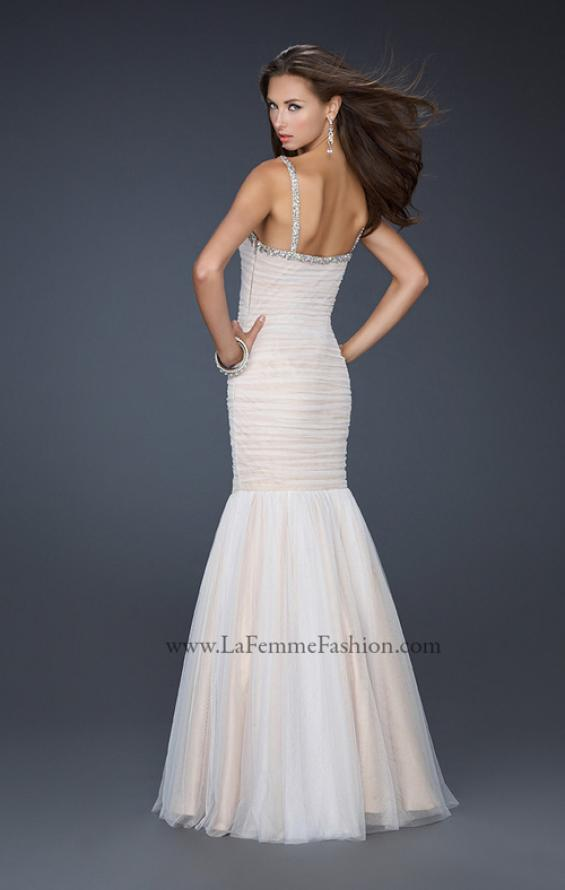 Picture of: Form Fitting Mermaid Dress with Beaded Neckline, Style: 17508, Detail Picture 2
