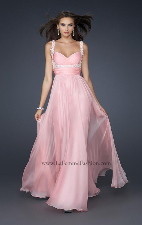 Picture of: Empire Waist Chiffon Prom Gown with Embellishments, Style: 17542, Main Picture