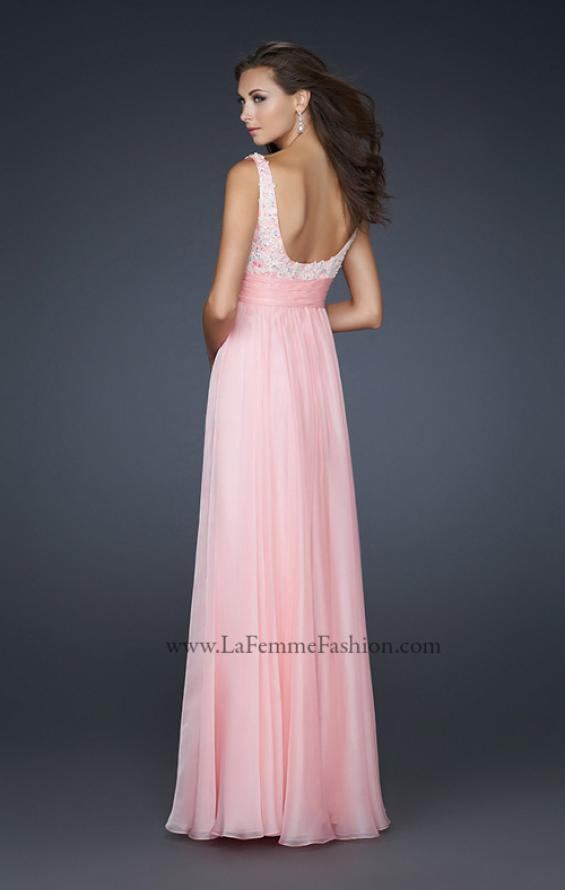 Picture of: Empire Waist Chiffon Prom Gown with Embellishments, Style: 17542, Back Picture