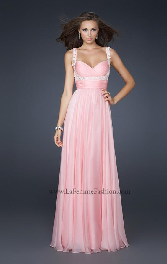 Picture of: Empire Waist Chiffon Prom Gown with Embellishments, Style: 17542, Detail Picture 1