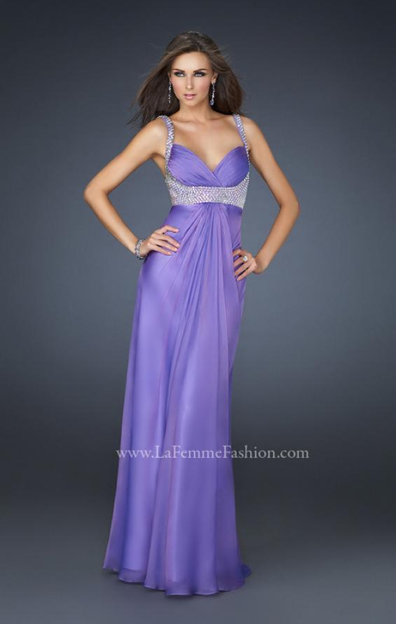 Picture of: Glam Chiffon Prom Gown with Embellished Waistband, Style: 17543, Main Picture