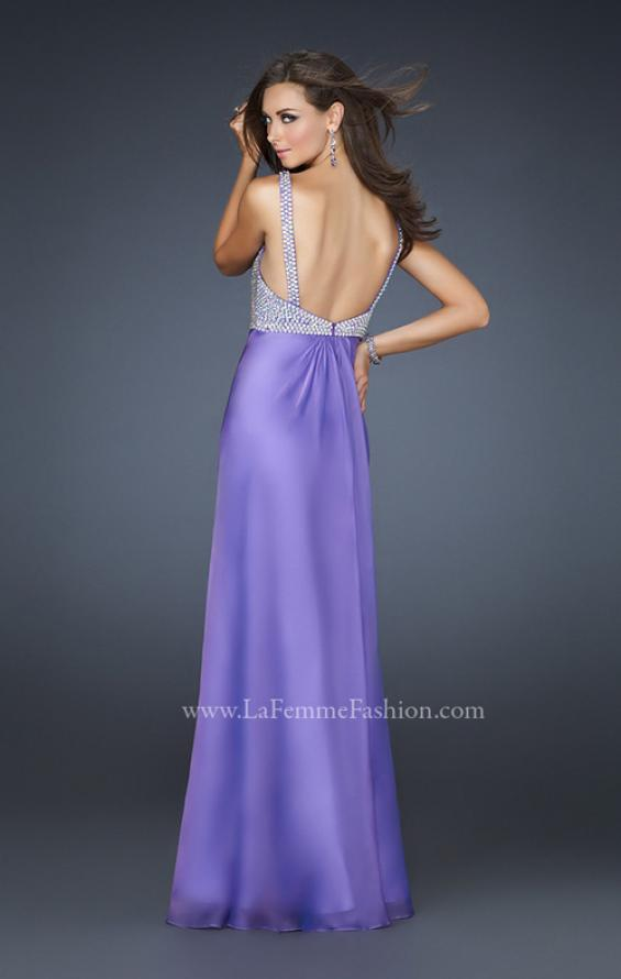 Picture of: Glam Chiffon Prom Gown with Embellished Waistband, Style: 17543, Back Picture
