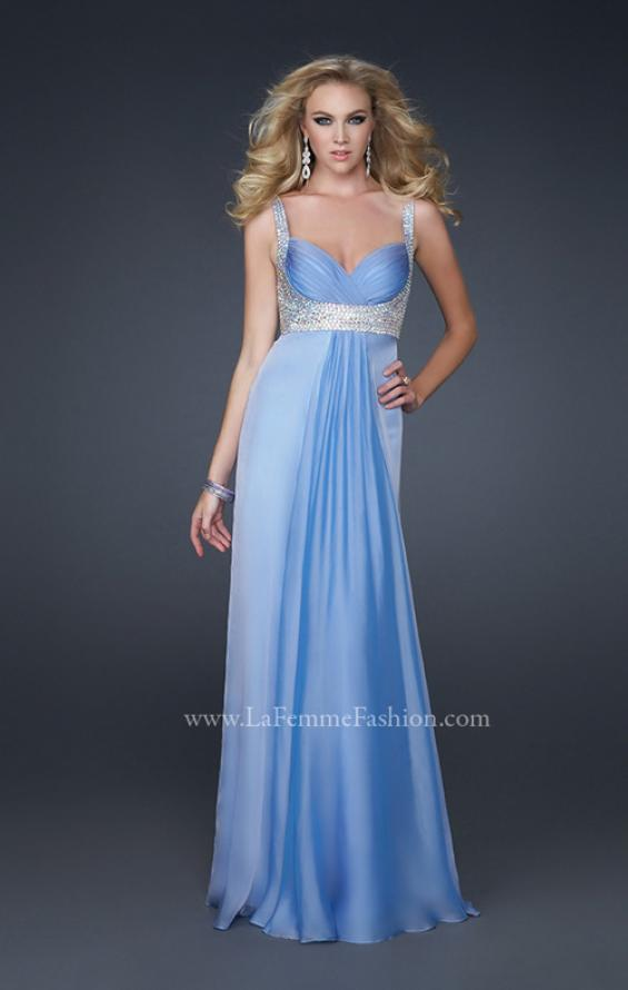 Picture of: Glam Chiffon Prom Gown with Embellished Waistband, Style: 17543, Detail Picture 1