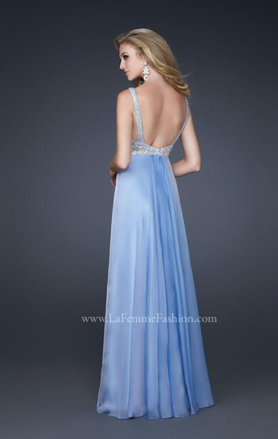 Picture of: Glam Chiffon Prom Gown with Embellished Waistband, Style: 17543, Detail Picture 3