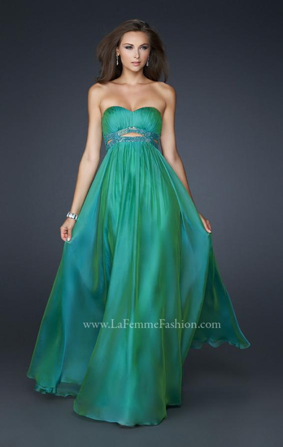 Picture of: Chiffon Prom Dress with Beaded Waist and Pleating, Style: 17546, Main Picture