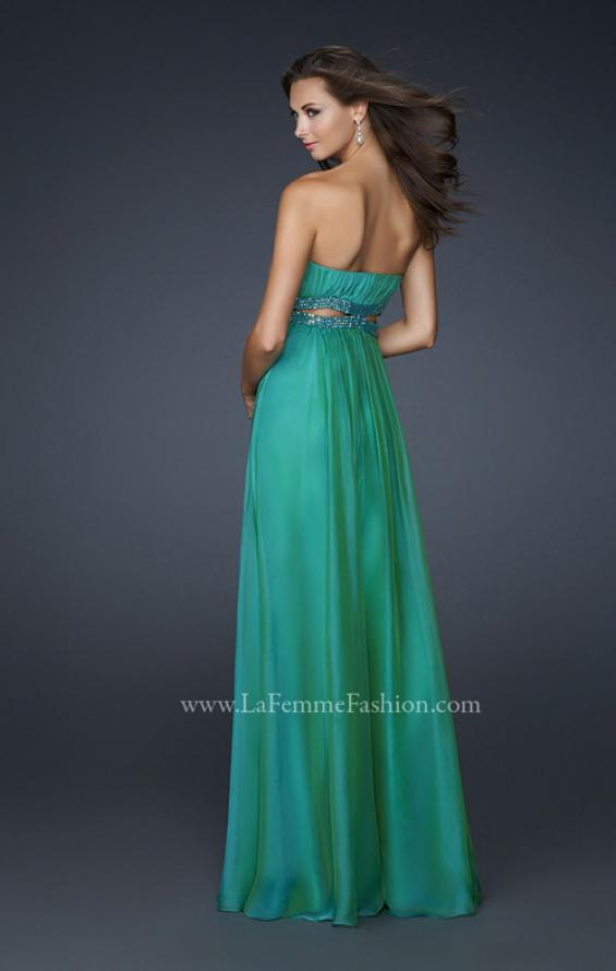 Picture of: Chiffon Prom Dress with Beaded Waist and Pleating, Style: 17546, Back Picture