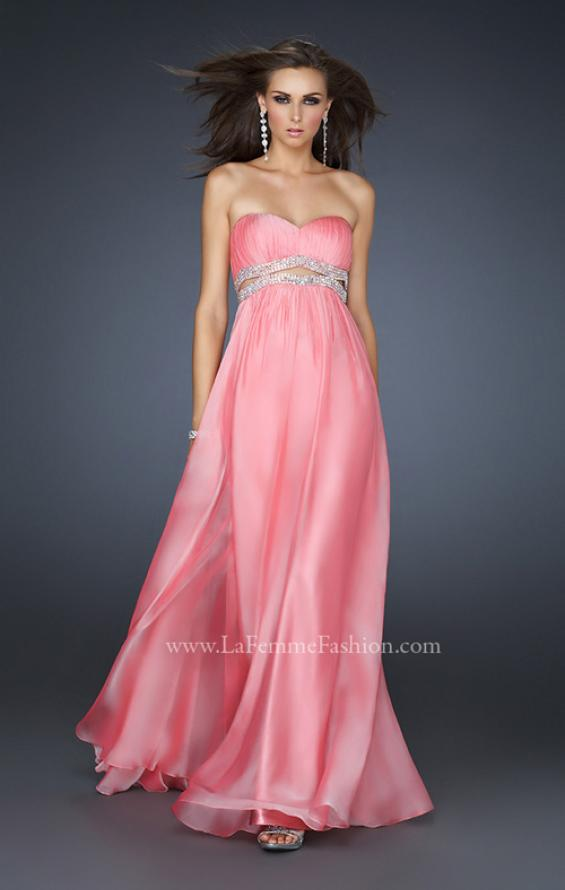 Picture of: Chiffon Prom Dress with Beaded Waist and Pleating, Style: 17546, Detail Picture 1