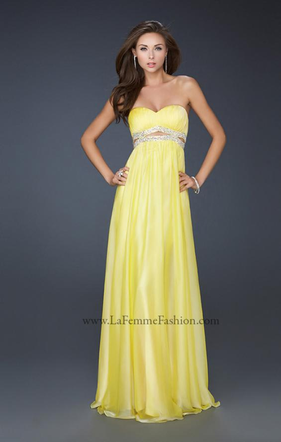 Picture of: Chiffon Prom Dress with Beaded Waist and Pleating, Style: 17546, Detail Picture 2