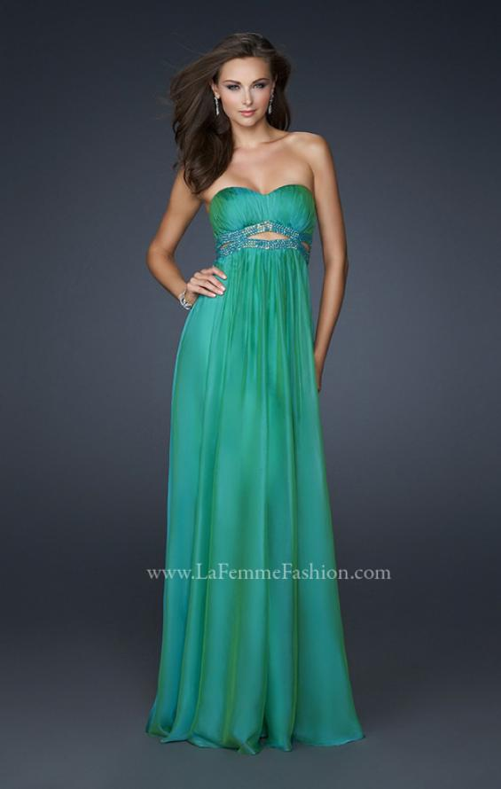 Picture of: Chiffon Prom Dress with Beaded Waist and Pleating, Style: 17546, Detail Picture 3