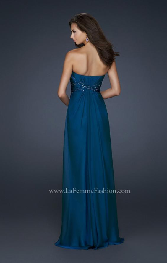 Picture of: Lightly Beaded Sweetheart Top Prom Dress with Full Skirt in Blue, Style: 17581, Back Picture