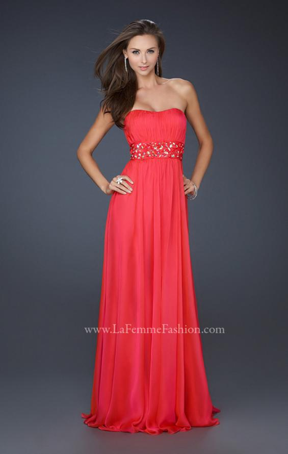 Picture of: Full Length Strapless Dress with Embellished Waistband, Style: 17623, Detail Picture 1