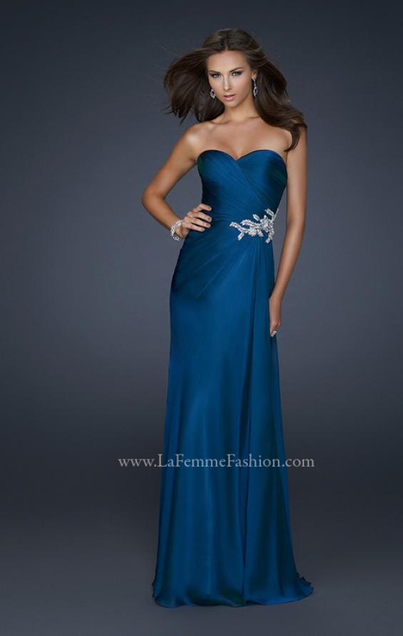 Picture of: Chiffon Prom Dress with Sweetheart Neckline and Pleats, Style: 17740, Main Picture